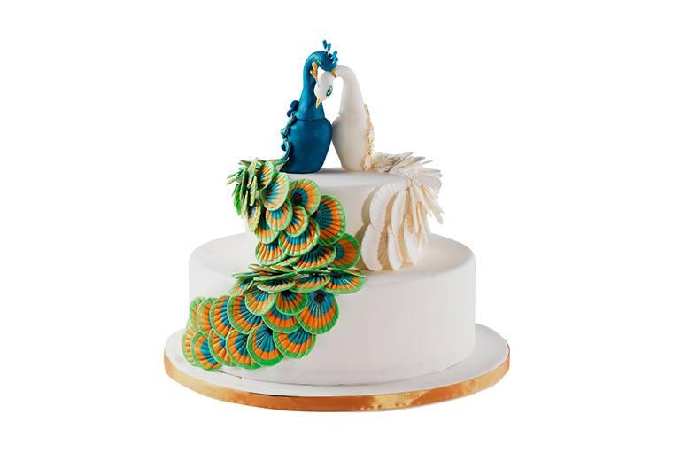 Торт Свадебный «Райские птицы»